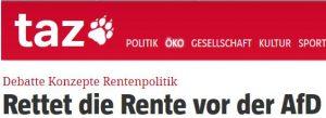 """""""Rettet die Rente vor der AfD"""""""